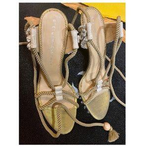 Stella McCartney Gold Rope Heels